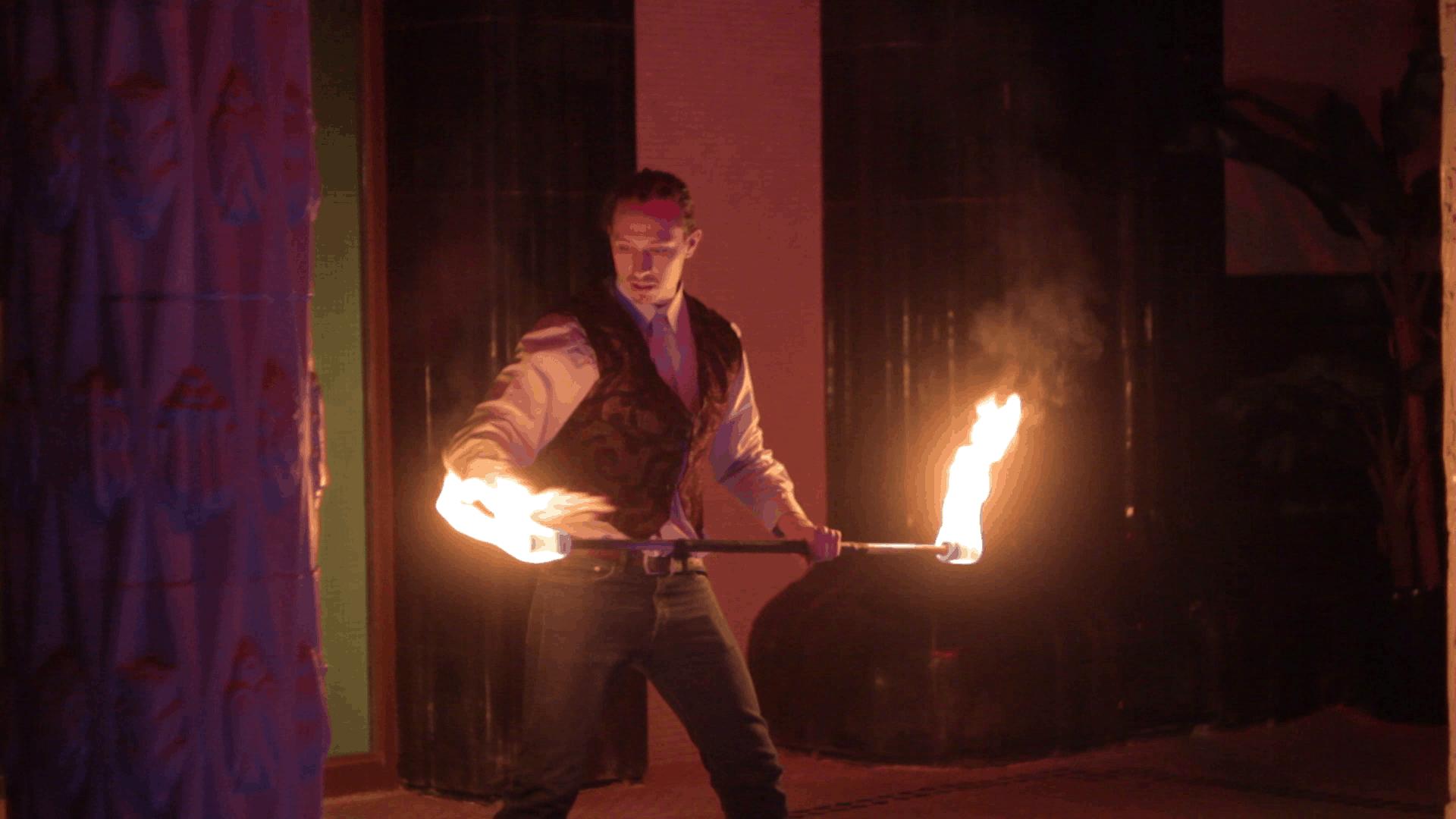 A tűztánc, mint a kultúra képviselője a rendezvényeken